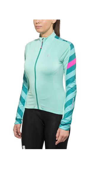 PEARL iZUMi ELITE Pursuit Thermal Jersey Women Aqua Mint Stripe